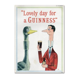 Guinness Brewery 'Lovely Day For A Guinness XIII' Canvas Art