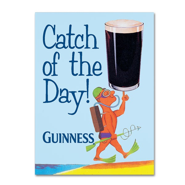 Guinness Brewery 'Catch Of The Day' Canvas Art