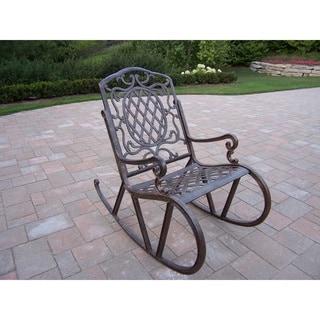 Dakota Cast Aluminum High Back Rocking Chair