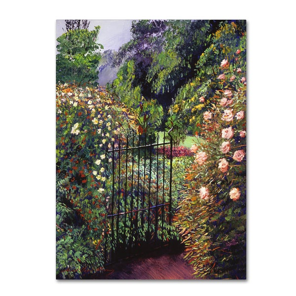 David Lloyd Glover 'Quiet Garden Entrance' Canvas Art