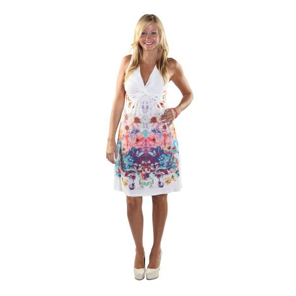 Hadari Women Sleeveless V-Neck Dress