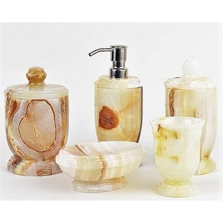 White Onyx 5-piece Atlantic Collection Bathroom Accessory Set
