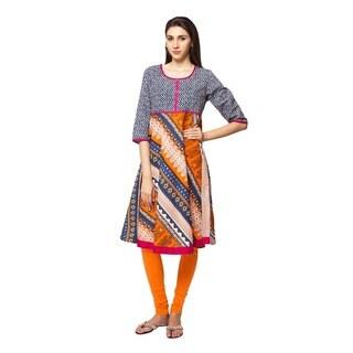 In-Sattva Ethnicity Women's Indian Trendy Multi-Print Kurta Tunic