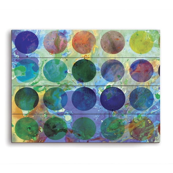 Artist Palette Graphic on Wood