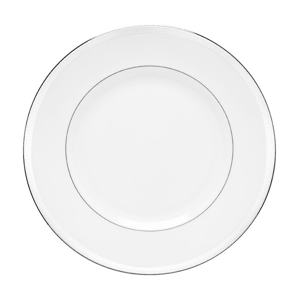 Lenox Tribeca White/Silver Formal Dinner Plate