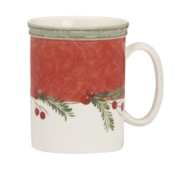 Holiday Wreath Stoneware 14-ounce Mug