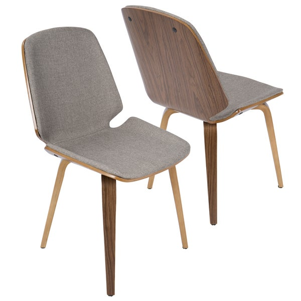 Serena Walnut Mid-century Modern Dining Chairs (Set of 2)