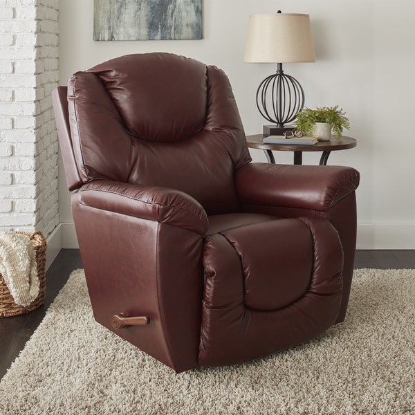 La-Z-Boy Shane Red Burgundy Leather Recliner