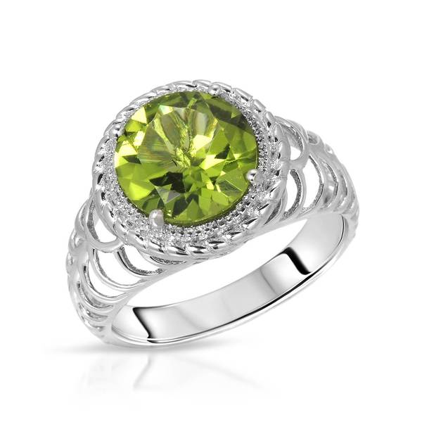 Nevada Silver Co. Sterling Silver 2 1/4ct TW Peridot Ring