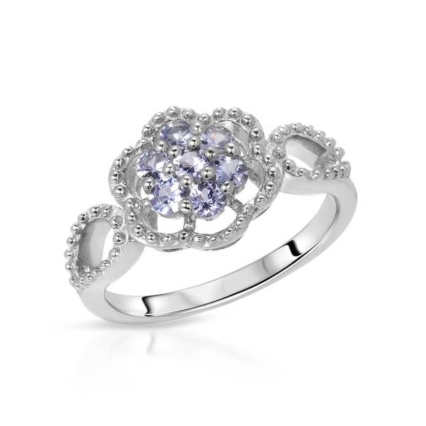 Nevada Silver Sterling Silver Co. 2/5ct TW Tanzanite Ring