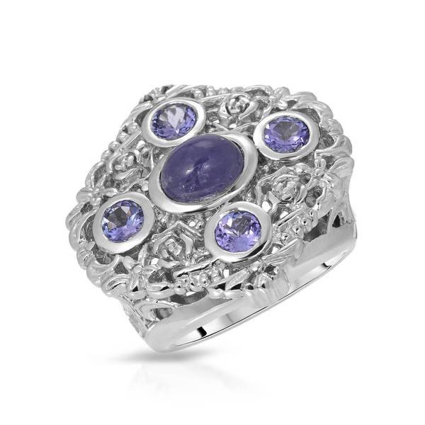 Nevada Silver Co. Sterling Silver 4ct TW Tanzanite Ring