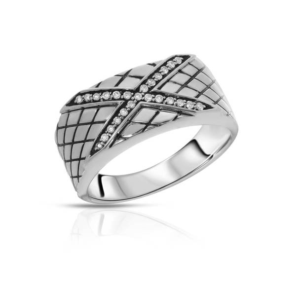 Currency Sterling Silver 1/5ct TDW Diamond Ring (Size 10)