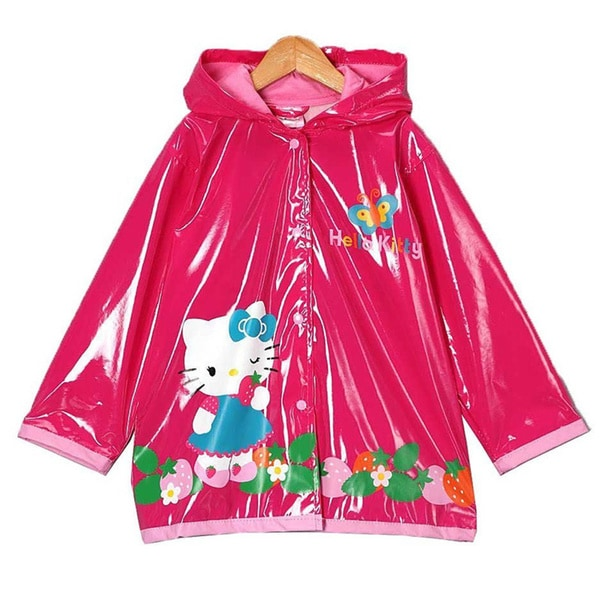 Sanrio Hello Kitty Girls Pink Raincoat