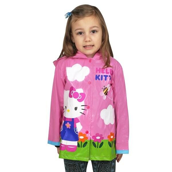 Sanrio Girl's Hello Kitty Pink Raincoat