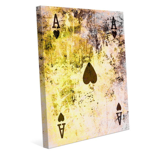 The Ace of Hearts Graphic on Canvas