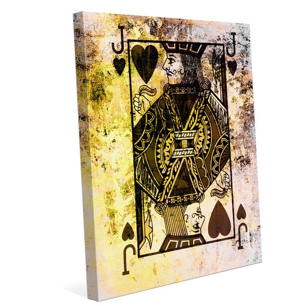 The Jack of Hearts Graphic on Canvas