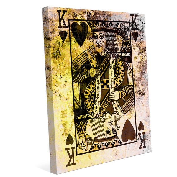 The King of Hearts Graphic on Canvas
