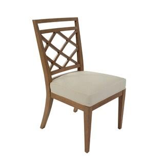 Diamante White Cushion Side Chair