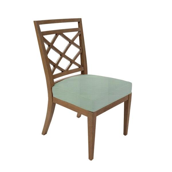 Diamante Blue Cusion Side Chair