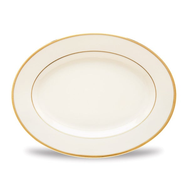 Lenox Tuxedo Ivory Fine China 13-inch Oval Platter