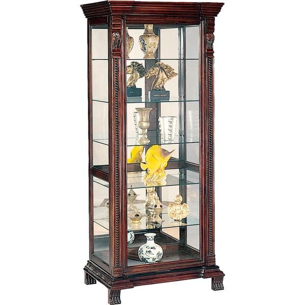 Deep Brown 6-shelf Rectangular Curio Cabinet