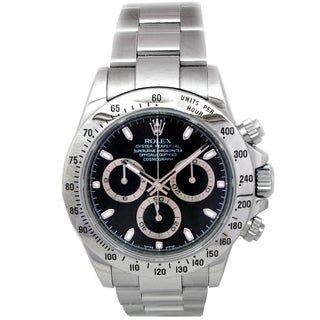Pre-owned Rolex Stainless Steel Daytona Watch