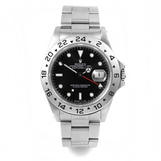 Pre-Owned Rolex Explorer II Sports Model with Black Dial and 24-hour Bezel