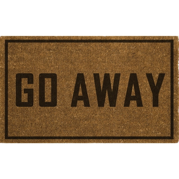 Fiesta Vinyl Backed Go Away Coir Mat