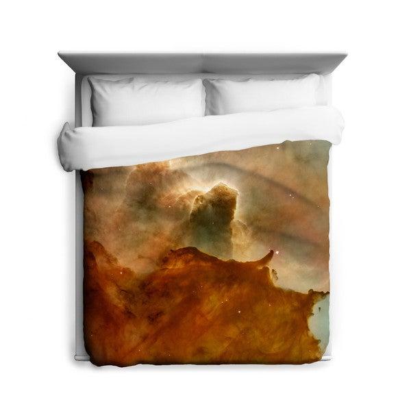 Great Clouds in Carina Nebula Duvet Cover