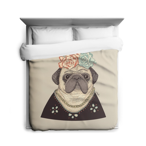 Frida Pug-lo Duvet Cover