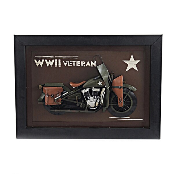 Vintage WWII Motorcycle 3D Painting