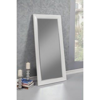 Sandberg Furniture Contemporary White Full Length Leaner Mirror