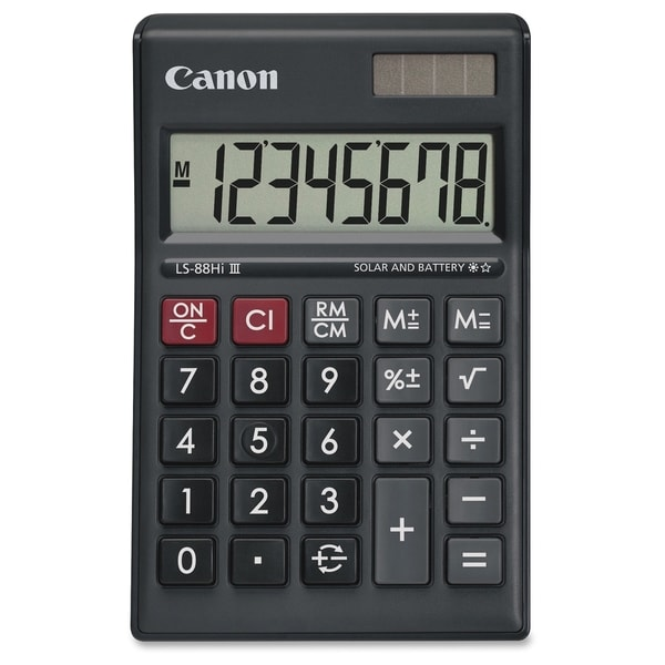 Canon LS-88HI III Green Display Basic Calculator - Black