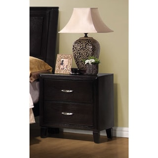 Brown 2-Drawer Nightstand