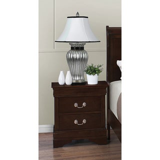 Louis Philippe Bedroom Collection Cappuccino 2-Drawer Nightstand