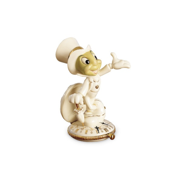 Disney Show White/Gold Porcelain Jiminy Cricket Figurine