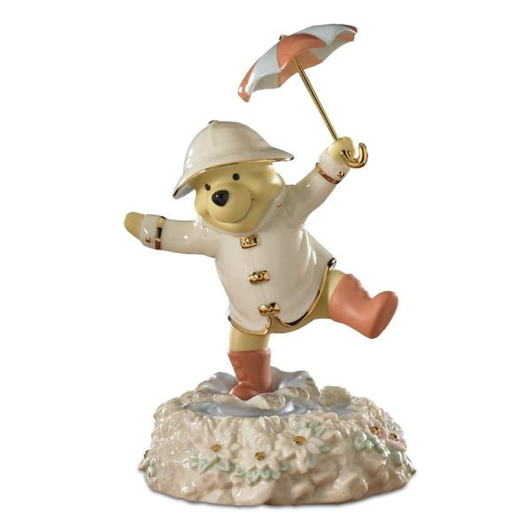 Poohs Singing in The Rain Figurine