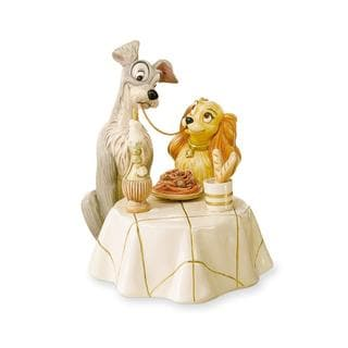 Lenox Disney Lady and the Tramp Porcelain Figurine with Gold Accents