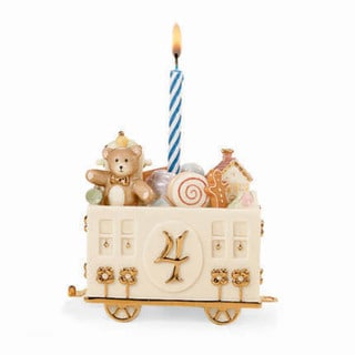 Lenox Creamic Fabulous Four Birthday Car Figurine