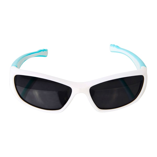 Crummy Bunny Flexible Kids Sports White and Turquoise sunglasses