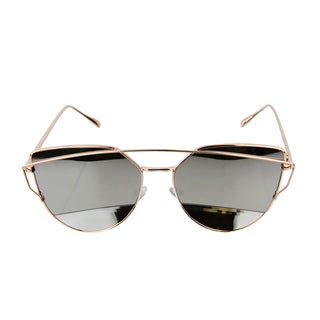 Crummy Bunny Kids UV400 Aviator Style Sunglasses with Rose Gold Metal Frames