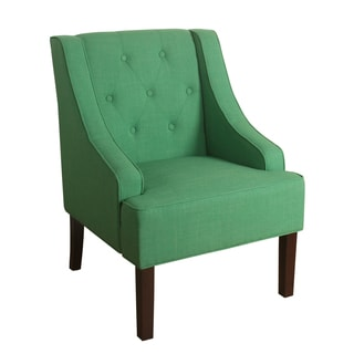 HomePop Kate Tufted Swoop Arm Accent Chair Kelly Green