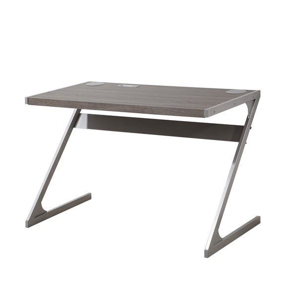 Weathered Grey Bluetooth Writing Desk