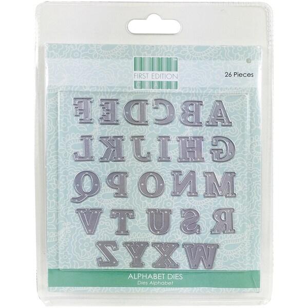 First Edition Dies 26/Pkg Serif Alphabet