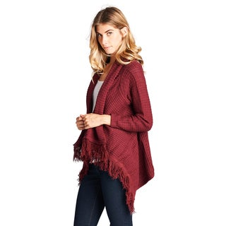 Orange Creek Women's Cotton Open-front Cardigan With Fringe