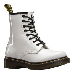 Women's Dr. Martens 1460 8-Eye Boot Patent White Patent Lamper