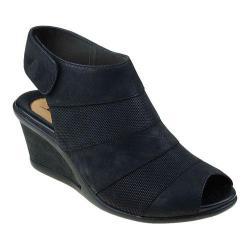 Women's Earth Coriander Wedge Sandal Black Vintage Leather
