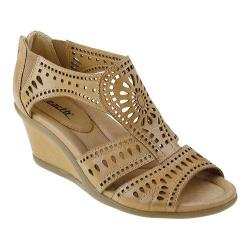 Women's Earth Crown Wedge Sandal Sand Soft Calf Leather