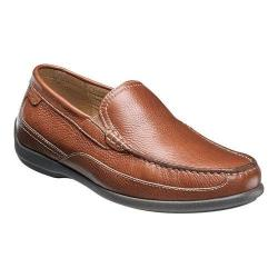 Men's Florsheim Moto Venetian Slip On Cognac Milled Leather