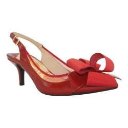Women's J. Renee Garbi Red/Red Faux Crinkle Patent